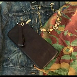 HOBO  International Leather Vida Wristlet Clutch